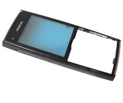 Etupaneeli Nokia X2-00 chrome/ musta