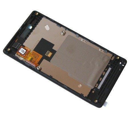 Etupaneeli + digitizer ja LCD Sony ST23i Xperia Miro musta