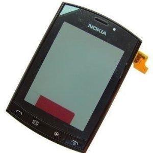 Etupaneeli kosketuspaneelilla Nokia 303 Asha musta Alkuperäinen