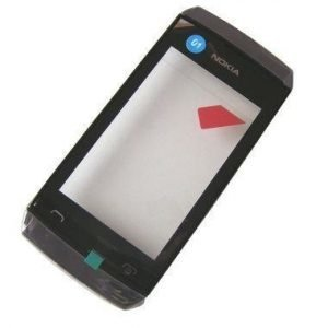 Etupaneeli kosketuspaneelilla Nokia 305 Asha/ 306 Asha grey