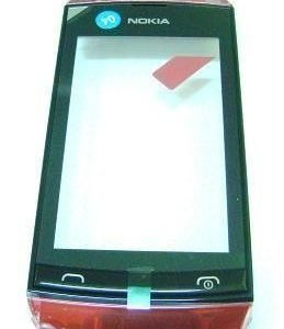 Etupaneeli kosketuspaneelilla Nokia 305 Asha/ 306 Asha red