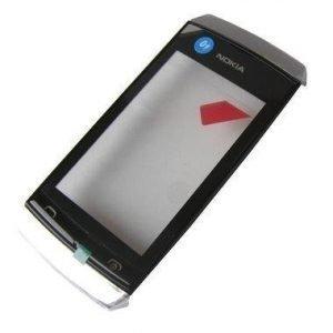Etupaneeli kosketuspaneelilla Nokia 305 Asha/ 306 Asha valkoinen