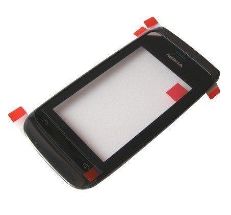 Etupaneeli kosketuspaneelilla Nokia 308 Asha/ 309 Asha/ 310 Asha musta