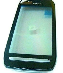 Etupaneeli kosketuspaneelilla Nokia 603 musta