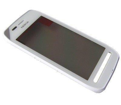 Etupaneeli kosketuspaneelilla Nokia 603 valkoinen