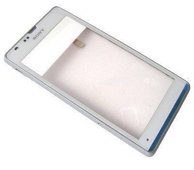 Etupaneeli kosketuspaneelilla Sony C5302/ C5303/ C5306 Xperia SP valkoinen