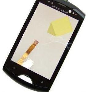 Etupaneeli kosketuspaneelilla Sony Ericsson WT19i musta Alkuperäinen
