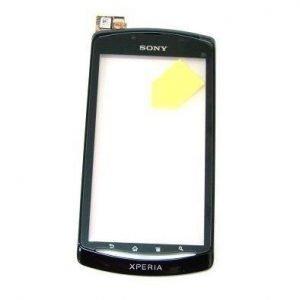 Etupaneeli kosketuspaneelilla Sony MT25i Xperia Neo L musta Alkuperäinen