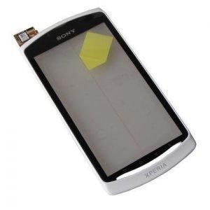 Etupaneeli kosketuspaneelilla Sony MT25i Xperia Neo L valkoinen Alkuperäinen