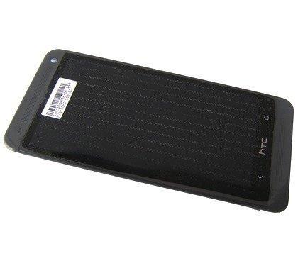 Etupaneeli kosketuspaneelilla and LCD Näyttö HTC One Dual SIM 802w musta Alkuperäinen