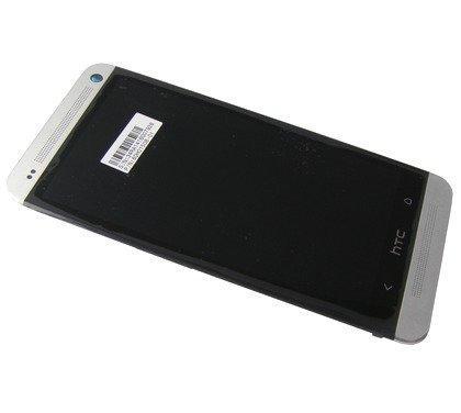 Etupaneeli kosketuspaneelilla and LCD Näyttö HTC One Dual SIM 802w valkoinen Alkuperäinen