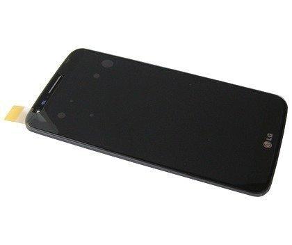 Etupaneeli kosketuspaneelilla and LCD Näyttö LG D802 Optimus G2 musta Alkuperäinen