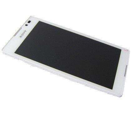 Etupaneeli kosketuspaneelilla and LCD Näyttö Sony C2304/ C2305 Xperia C valkoinen Alkuperäinen