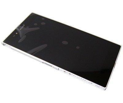 Etupaneeli kosketuspaneelilla and LCD Näyttö Sony C6802/ C6806/ C6833/ C6843 Xperia Z Ultra valkoinen Alkuperäinen