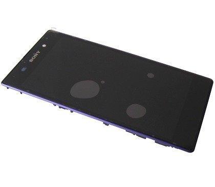 Etupaneeli kosketuspaneelilla and LCD Näyttö Sony C6902/ C6903/ C6906/ C6943 Xperia Z1 purple Alkuperäinen