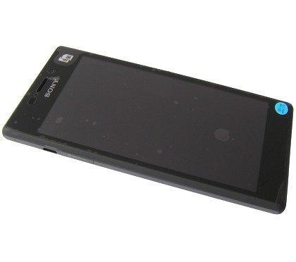 Etupaneeli kosketuspaneelilla and LCD Näyttö Sony D2302 Xperia M2 Dual musta Alkuperäinen