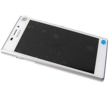 Etupaneeli kosketuspaneelilla and LCD Näyttö Sony D2302 Xperia M2 Dual valkoinen Alkuperäinen