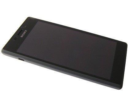 Etupaneeli kosketuspaneelilla and LCD Näyttö Sony D2303/ D2305/ D2306 Xperia M2 musta Alkuperäinen