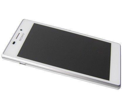 Etupaneeli kosketuspaneelilla and LCD Näyttö Sony D2303/ D2305/ D2306 Xperia M2 valkoinen Alkuperäinen