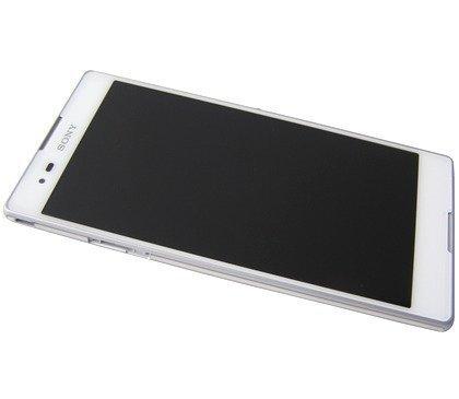 Etupaneeli kosketuspaneelilla and LCD Näyttö Sony D5303/ D5306 Xperia T2 Ultra valkoinen Alkuperäinen