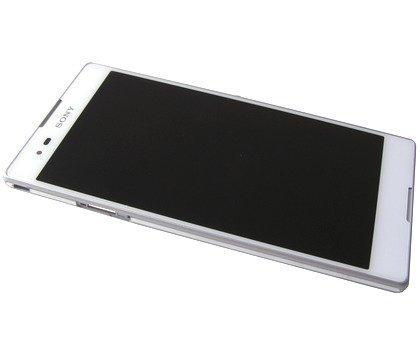 Etupaneeli kosketuspaneelilla and LCD Näyttö Sony D5322 Xperia T2 Ultra Dual valkoinen Alkuperäinen