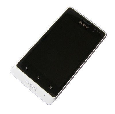 Etupaneeli kosketuspaneelilla and LCD Näyttö Sony ST27i Xperia GO valkoinen Alkuperäinen