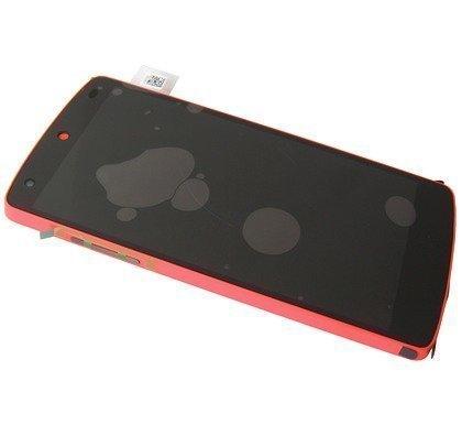Etupaneeli kosketuspaneelilla and Näyttö LG D821 Nexus 5 red Alkuperäinen
