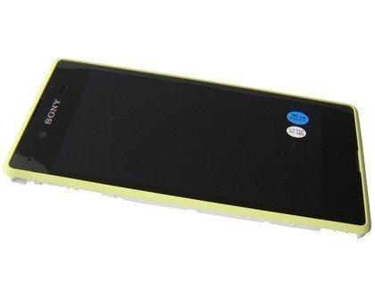 Etupaneeli kosketuspaneelilla and Näyttö Sony D2202 / D2203 / D2206 Xperia E3 lime Alkuperäinen