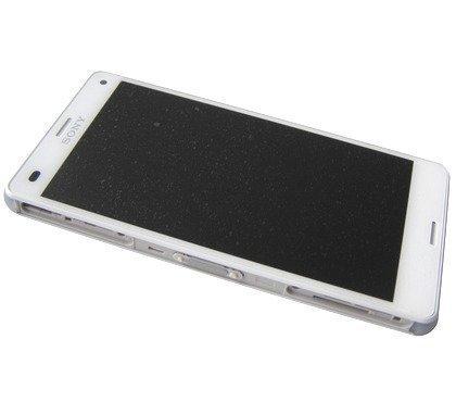 Etupaneeli kosketuspaneelilla and Näyttö Sony D5803 / D5833 Xperia Z3 Compact valkoinen Alkuperäinen