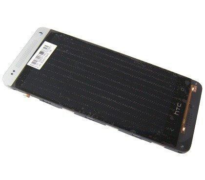 Etupaneeli kosketuspaneelilla and lcd Näyttö HTC One mini 601n silver Alkuperäinen