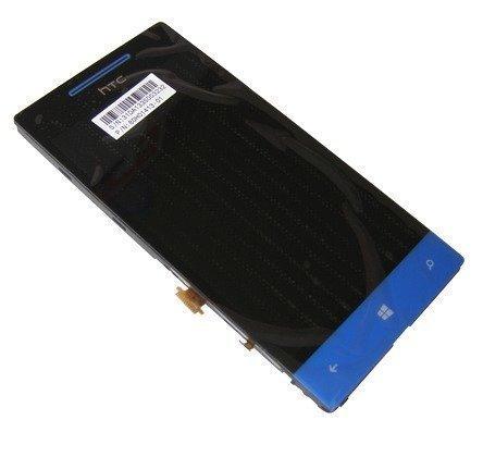 Etupaneeli kosketuspaneelilla and lcd Näyttö HTC Windows Phone 8S Domino A620e blue Alkuperäinen