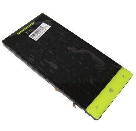 Etupaneeli kosketuspaneelilla and lcd Näyttö HTC Windows Phone 8S Domino A620e yellow Alkuperäinen