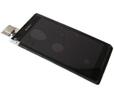 Etupaneeli kosketuspaneelilla and lcd Näyttö Sony C2104/ C2105 Xperia L musta Alkuperäinen