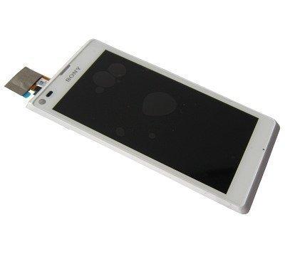 Etupaneeli kosketuspaneelilla and lcd Näyttö Sony C2104/ C2105 Xperia L valkoinen Alkuperäinen