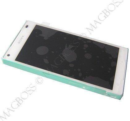 Etupaneeli kosketuspaneelilla ja LCD näytöllä Sony E5803 / E5823 Xperia Z5 Compact Valkoinen Alkuperäinen