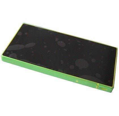 Etupaneeli kosketuspaneelilla ja LCD näytöllä Sony E5803/ E5823 Xperia Z5 Compact yellow Alkuperäinen