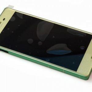 Etupaneeli kosketuspaneelilla ja LCD näytöllä Sony Xperia X / F5122 / Xperia X Dual Lime Gold / Vihreä kulta