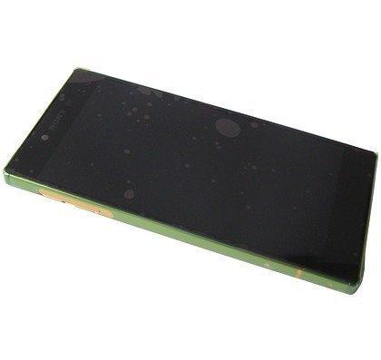 Etupaneeli kosketuspaneelilla ja LCD näytöllä Sony Xperia Z5 Premium DUAL Kulta Alkuperäinen