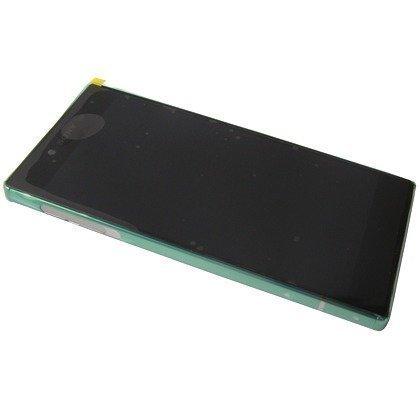 Etupaneeli kosketuspaneelilla ja LCD näytöllä Sony Xperia Z5 Premium Hopea Alkuperäinen