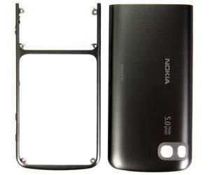 Etupaneeli with Akku kansi Nokia C3-01 colour warm grey.