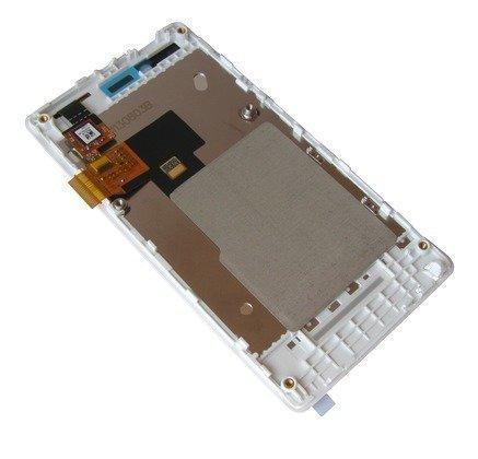Etupaneeli with digitizer and LCD Sony ST23i Xperia Miro valkoinen Alkuperäinen