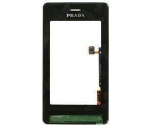 Etupaneeli+Kosketuspaneeli LG KE850 PRADA musta