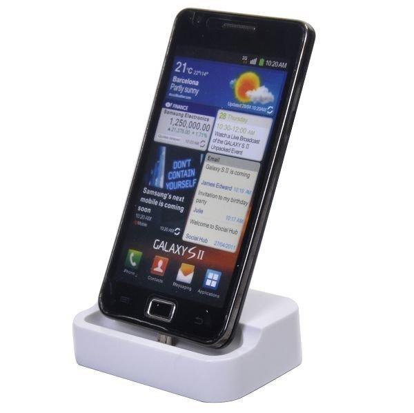 Exclusive Samsung Galaxy S2 Usb Telakka Valkoinen