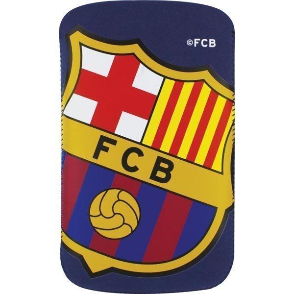 FC Barcelona nubuck-nahkasuojus älypuhelimille 121x66mm sini/punain