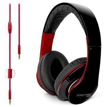 Fantec SHP-3 Stereokuulokkeet Musta / Punainen