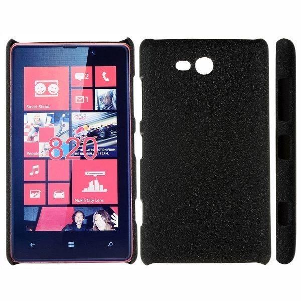 Feather Shell Musta Nokia Lumia 820 Suojakuori