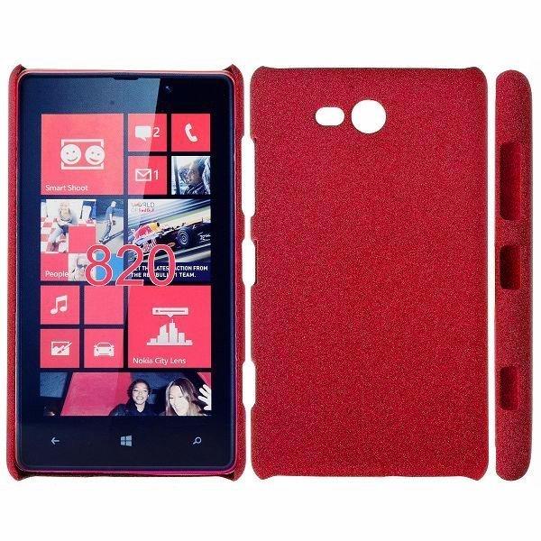 Feather Shell Punainen Nokia Lumia 820 Suojakuori