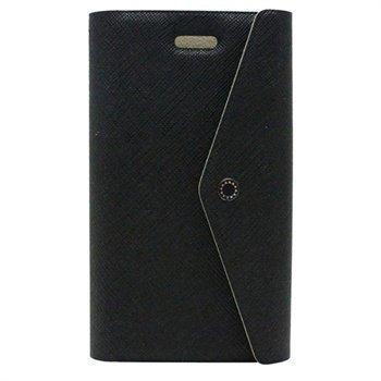 Fenice Clutch lompakkomallinen nahkakotelo iPhone 5 / 5S / SE ja iPhone 5S iPhone SE puhelimille -Musta