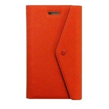 Fenice Clutch lompakkomallinen nahkakotelo iPhone 5 / 5S / SE ja iPhone 5S iPhone SE puhelimille Oranssi