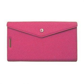 Fenice Clutch lompakkomallinen nahkakotelo iPhone 5 / 5S / SE ja iPhone 5S iPhone SE puhelimille Vaaleanpunainen